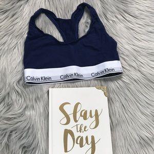 Calvin Klein Navy Blue Bra
